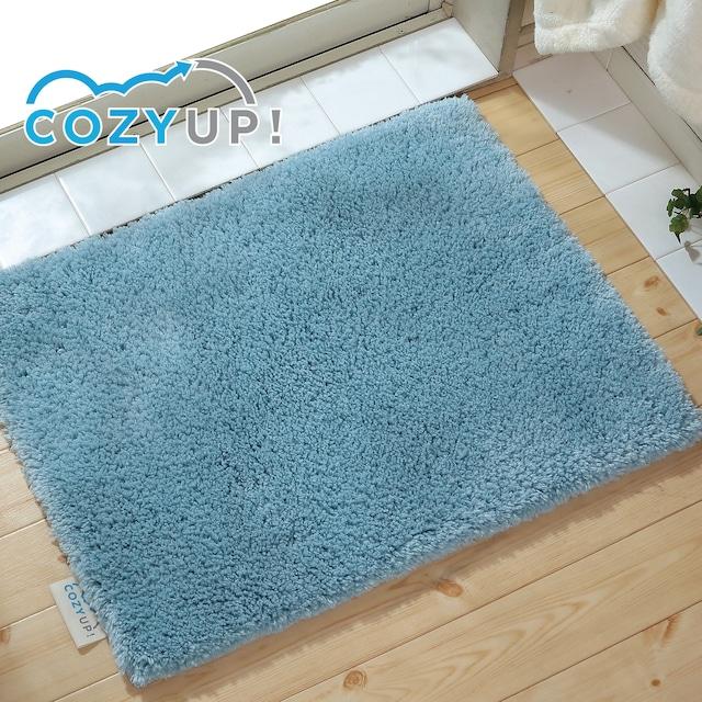 ヒンヤリ解消!COZY UP!バスマット ブルー 35cm×50cm