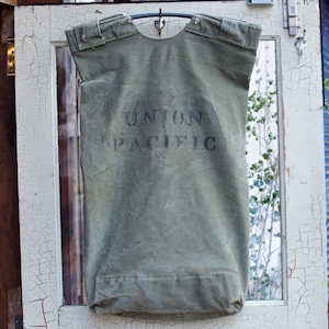 1930-40s UNION PACIFIC Canvas Bag / Vintage キャンバス バッグ ラージサイズ