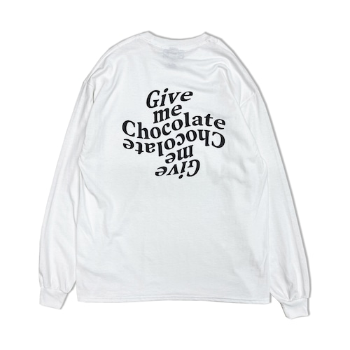 Give me Chocolate L/S Shirts【White】