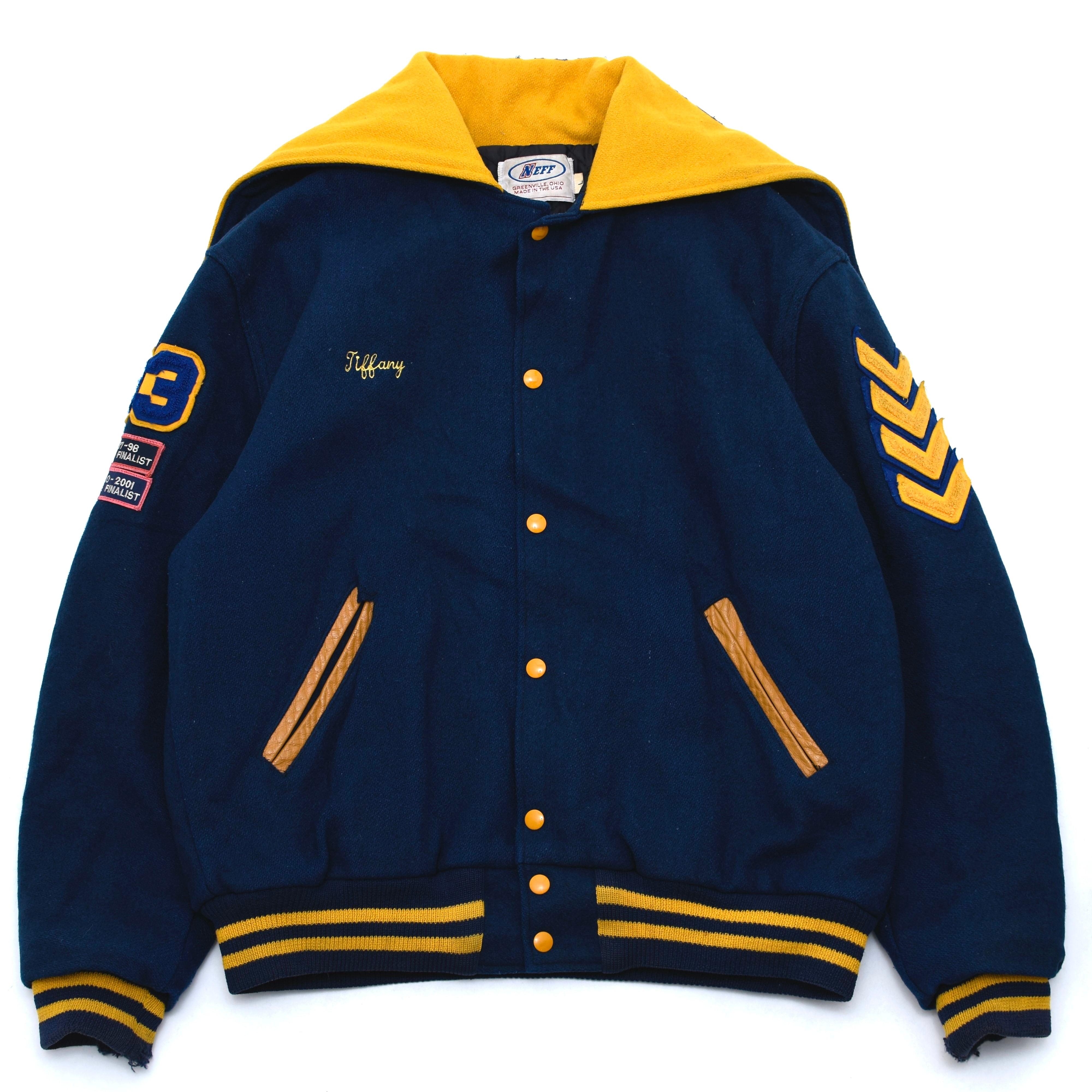 90's sailor collar wool varsity jacket