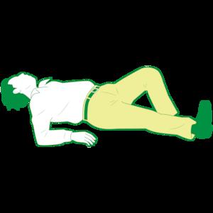 仰向けで倒れている男性②