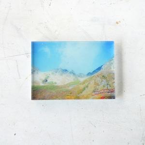 【mt.souvenir】山の透けるアクリルパネル/涸沢カールの紅葉(10×7cmミニ)