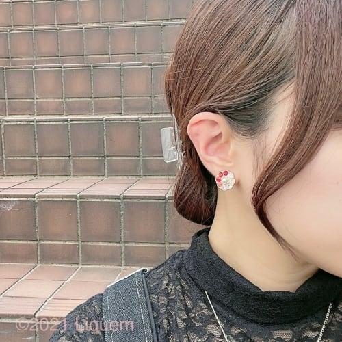 YUKI × Liquem / ヴィンテージフラワーイヤリング