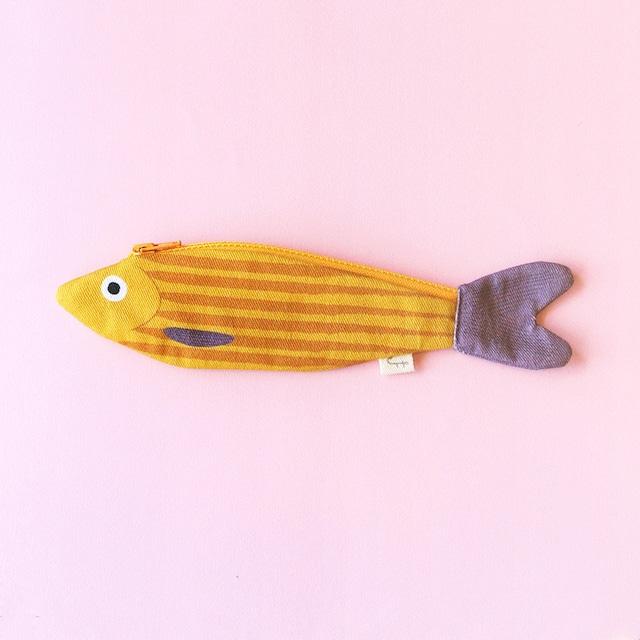 《魚/ニシン》 おさかなポーチ DON FISHER ドンフィッシャー MUSTARD HERRING スペイン 輸入雑貨 マスタード