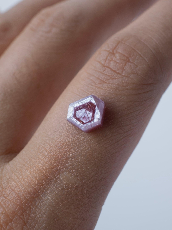 Hexagon Pink Sapphire -007