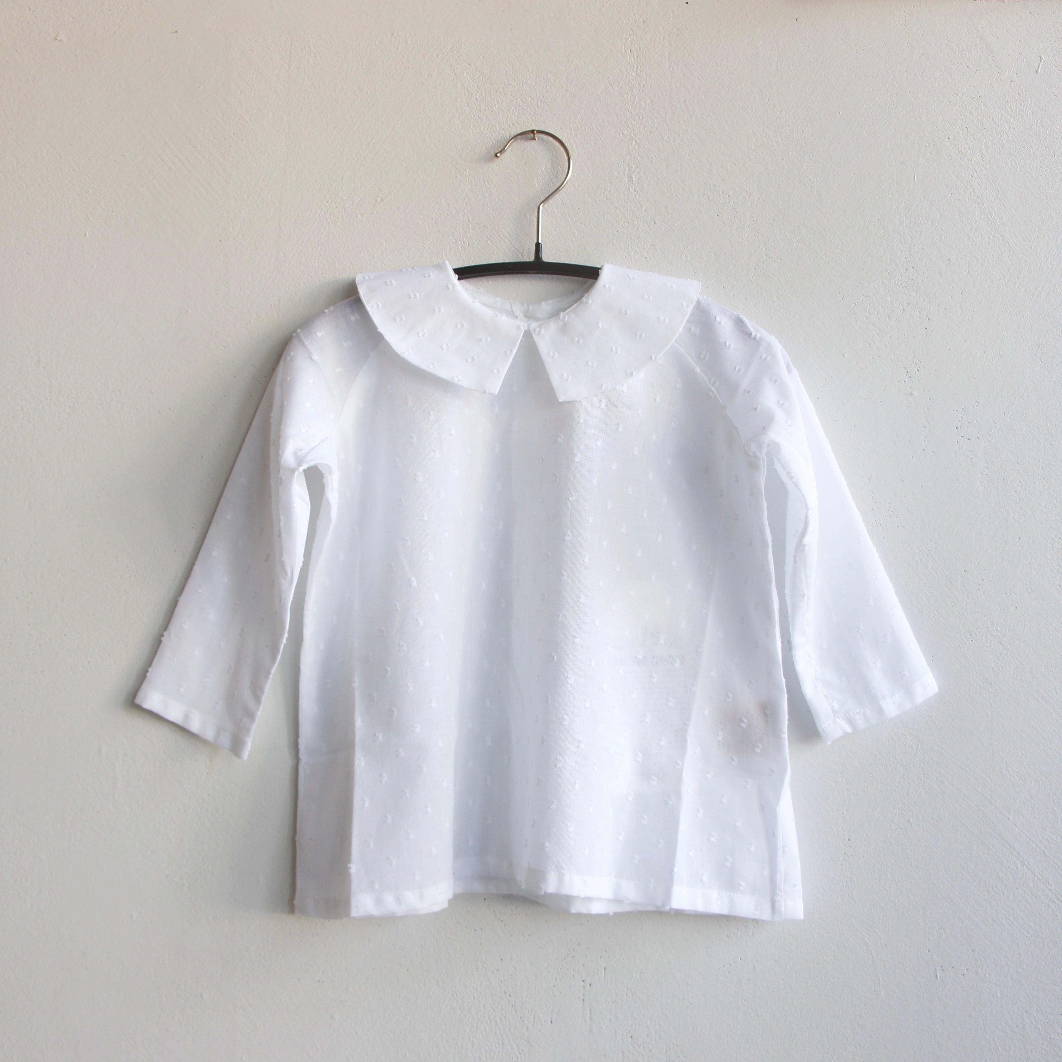 《AS WE GROW 2021AW》Arrow shirts / White Point D'Esprit