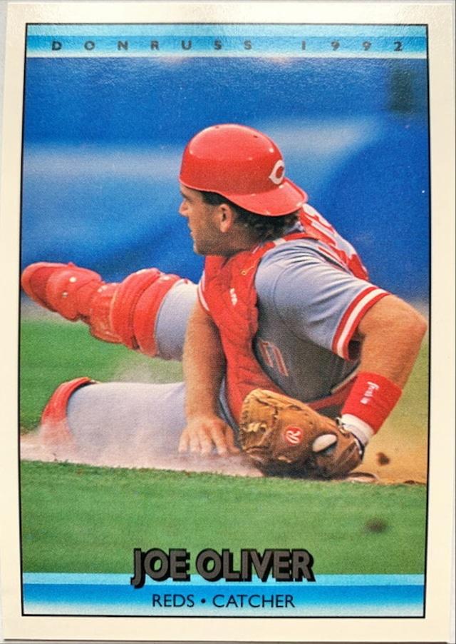 MLBカード 92DONRUSS Joe Oliver #261 REDS