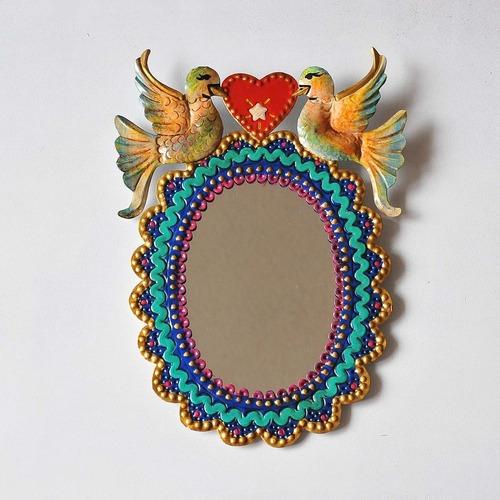 メキシコ ブリキ鏡(011)