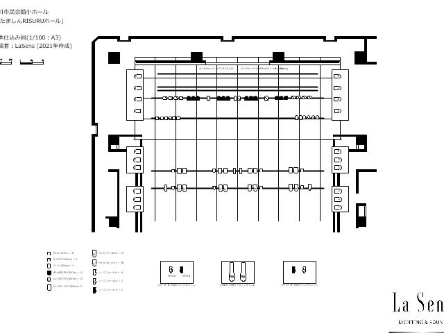 劇場図面 立川市市民会館小ホール