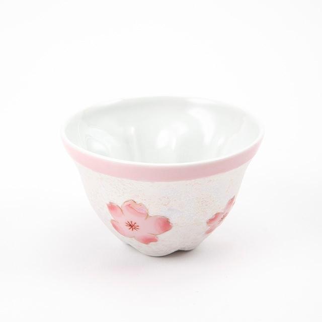 虹彩桜  煎茶碗