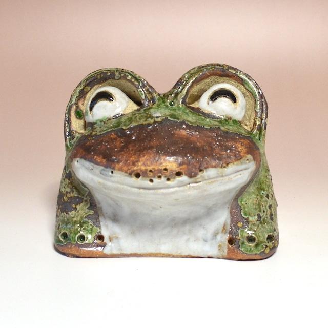 信楽焼 わらい蛙(豆)カエル かえる 風水 金運 幸福 オブジェ 置き物 552-06