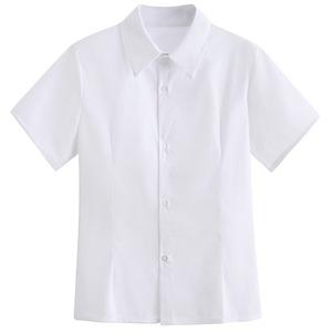 女子スクールシャツ 半袖 制服シャツ ワイシャツ 白シャツ 大きいサイズ レディースシャツ 女子高生 JK ブラウス トップス 9200