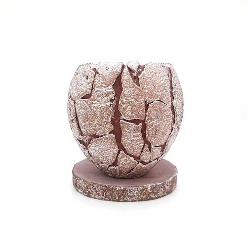 raraiuvant 陶器鉢 ホワイト&レッド Sサイズ
