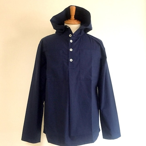 Cotton Cloth Anorak Parker Shirt Navy