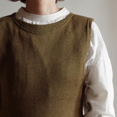 1930-40's Boat neck Knit Vest / ボートネック ニットベスト