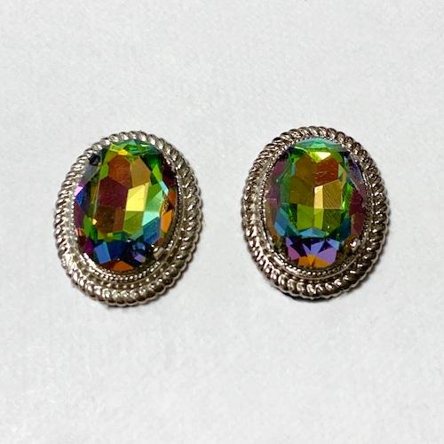 Vintage Watermelon Color Bijoux Earrings ②