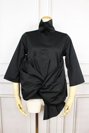 A KNOT blouse BLACK