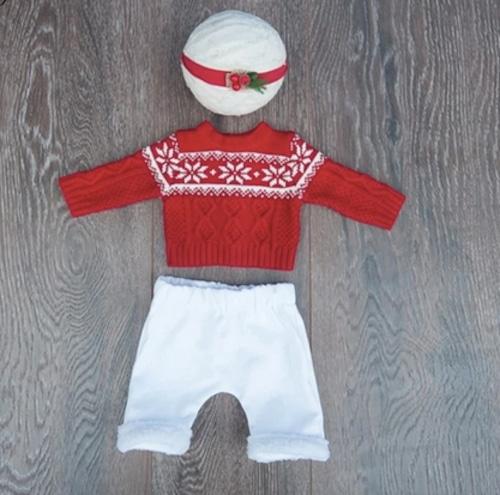 ケーブルニットのクリスマス男の子衣装