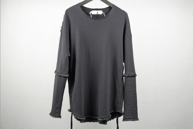 ASKYY / FRINGE DETAIL PULLOVER / D.GRY