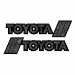 【 TacoVinyl 】 Black Camo Toyota Decals
