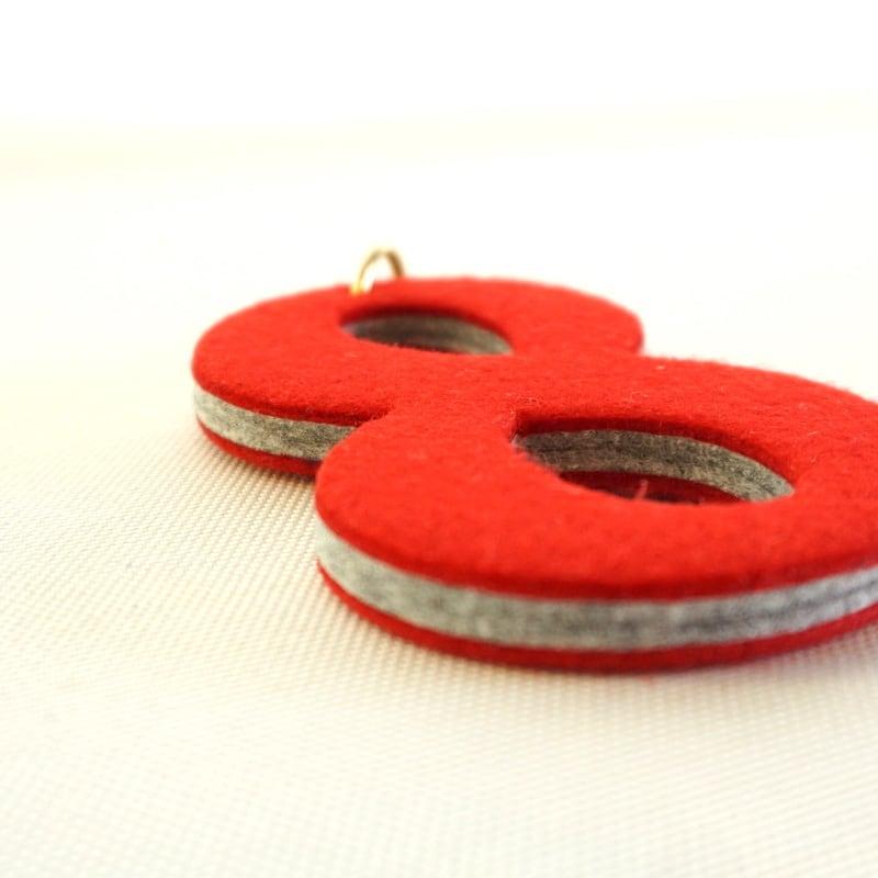 好きな数字でハッピーキーホルダー。Felt Key-ring Number