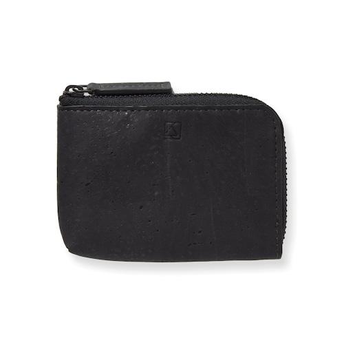 VEGAN COIN CASE - BLACK / コインケース 黒 コルク製 ビーガン 一年保証