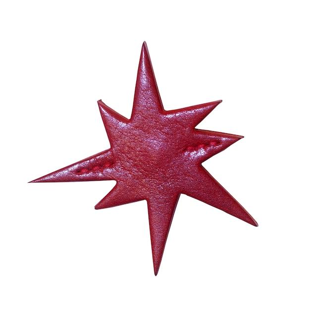 TOCHIGI LEATHER BADGE CLUSTER / RED - メイン画像