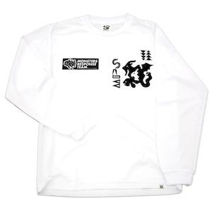 速乾ロングスリーブ Tシャツ(ホワイト)