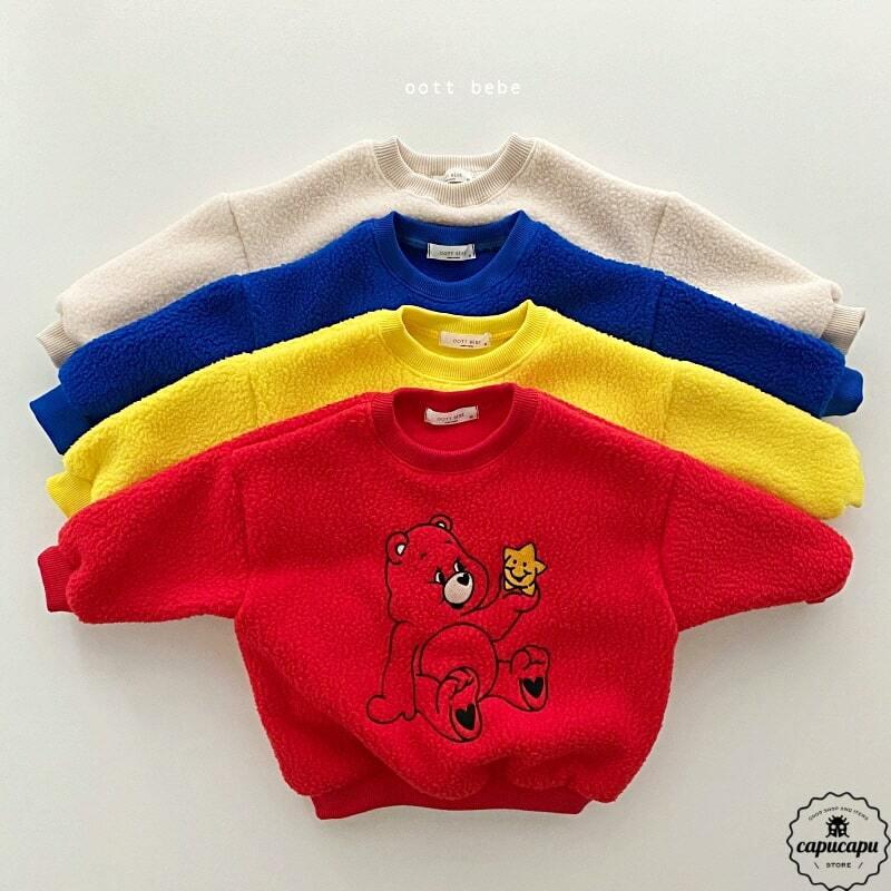 «sold out» mokomoko bear sweat 4colors もこもこベアースウェット