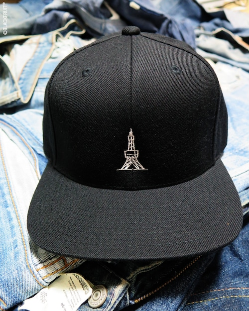 TOWER EMBROIDERED FLAT VISOR CAP