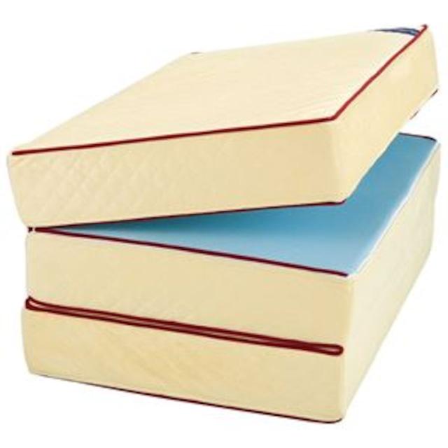 三つ折りマットレス/エクセレントスリーパー3 【厚さ15cm セミダブルサイズ】 低反発タイプ 洗えるカバー