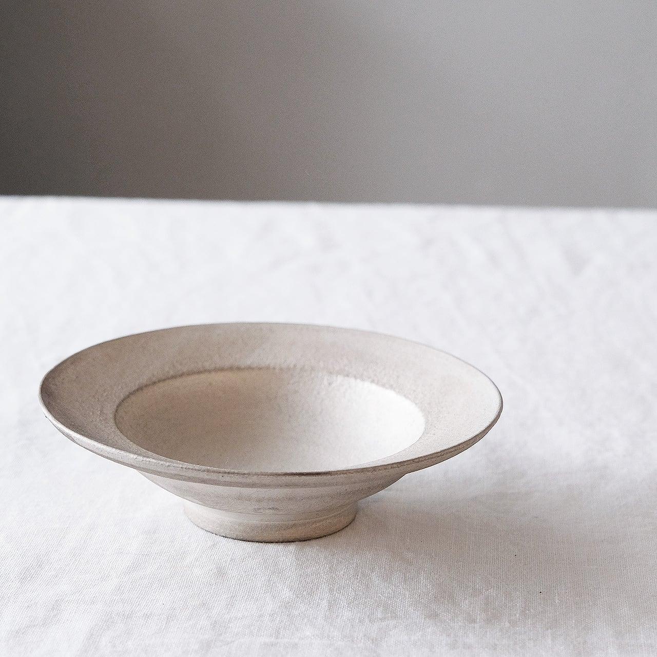 瀬川辰馬 Tatsuma Segawa   硫化銀彩 リム鉢 小 シルバー