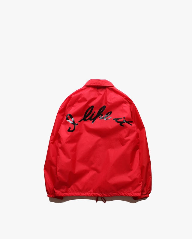 """EZ DO by EACHTIME. """" I Like It  Coach Jacket """"   Red"""
