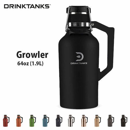 【New models】 DrinkTanks(ドリンクタンクス) 64oz (1.9L) Growler G-20-64 ドリンクタンク グラウラー クラフト ビール 炭酸 OK 保冷缶 アウトドア キャンプ ◆送料無料◆