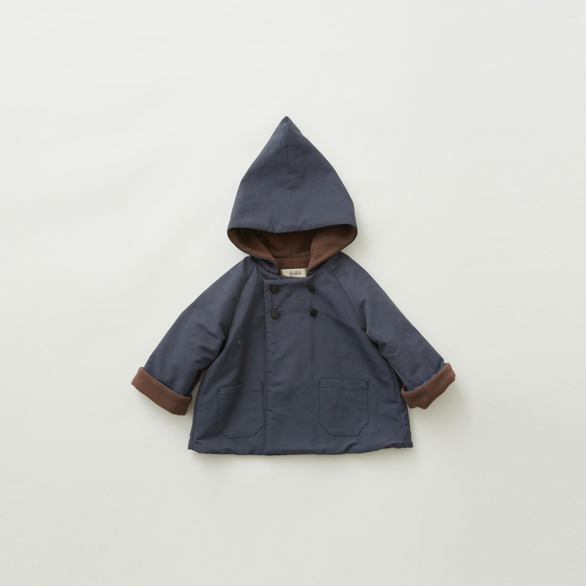 《eLfinFolk 2021AW》elf coat / blue gray / 90-100cm