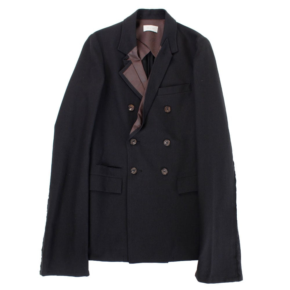 BED j.w. FORD Distortion Lapel Double Jacket Black