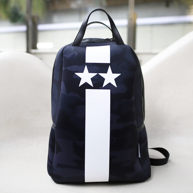 Black Starline white camouflage backpack
