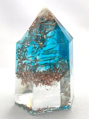 六角柱型オルゴナイト【天然水晶】