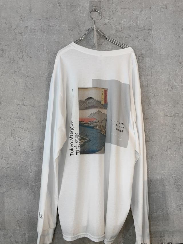 "【受注生産】Connecter Tokyo ""東京残影"" long sleeve tee  White"