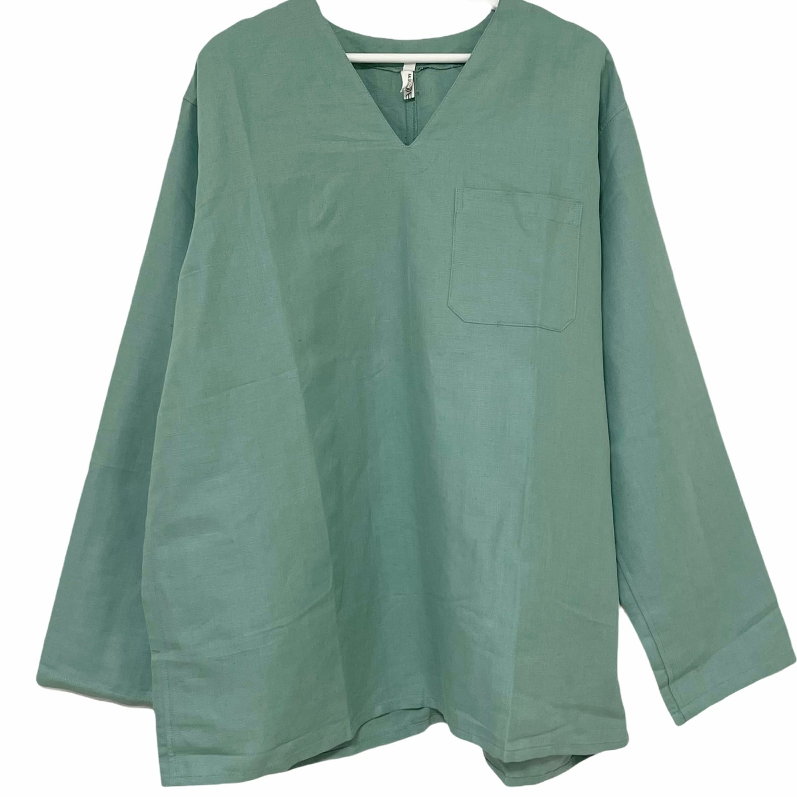 Dead Stock Hungarian ARMY Linen Pullover Sleeping Shirt