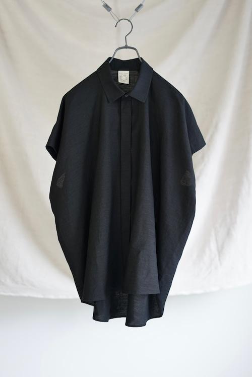 <SOLD OUT>JAN JAN VAN ESSCHE - SHIRT#83 (BLACK LINEN / PAPER CLOTH)