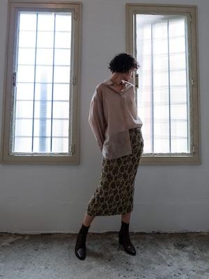 flower jacquard skirt(beige)