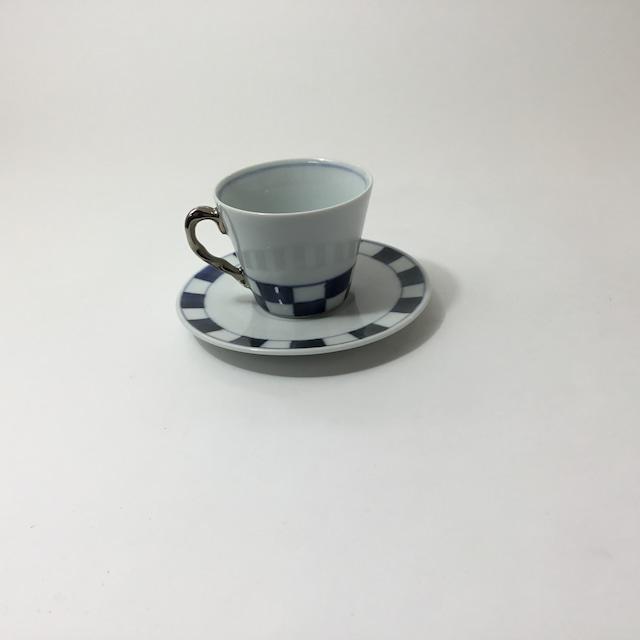市松碗皿(銀)