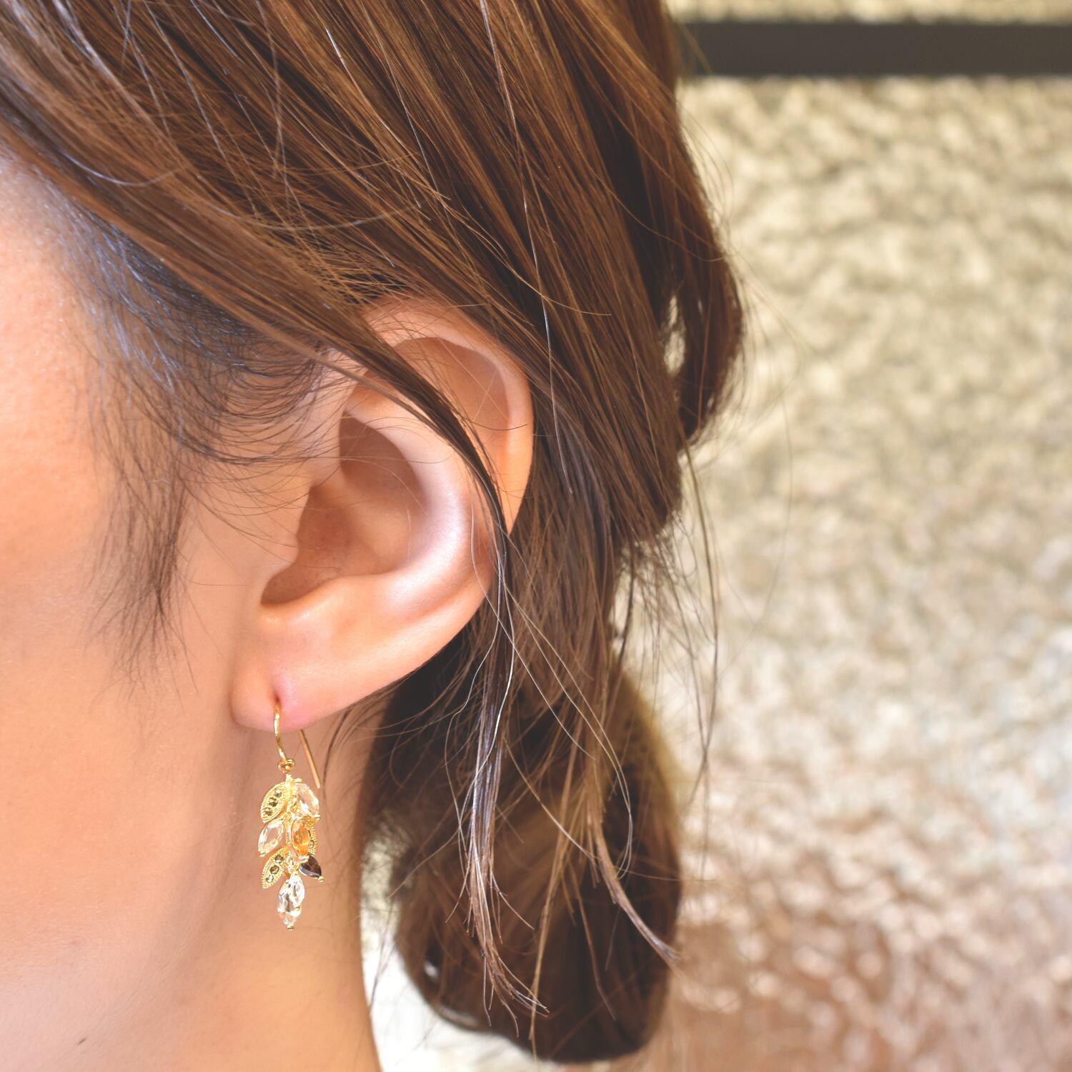 """Packaged collection  wheat pierced Earring """"ble"""""""