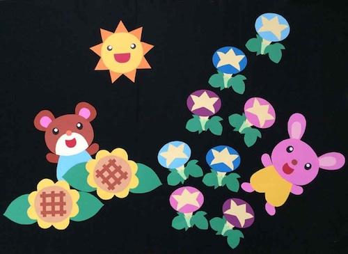 【夏の壁面装飾】真夏のかくれんぼ