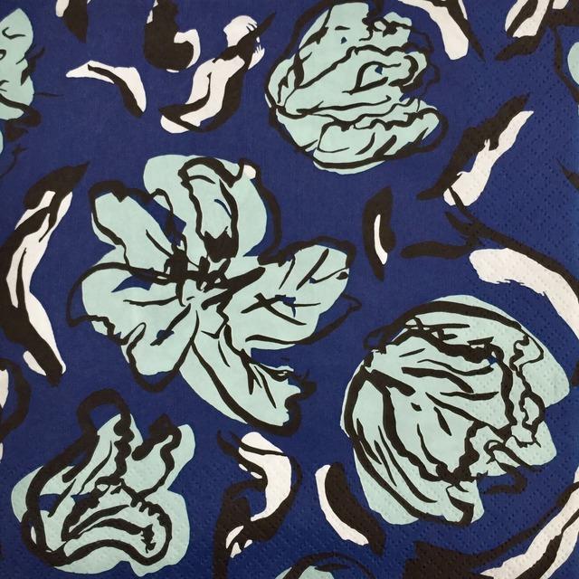 【nanso】バラ売り1枚 ランチサイズ ペーパーナプキン TULPPAANI ブルー