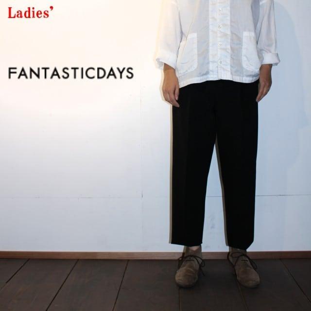 FANTASTICDAYS / ファンタスティックデイズ アンクルパンツ GAUCHO-63-01(BLACK) 【Ladies'】
