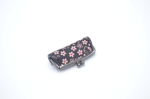 キティ印傳 印鑑ケース(がま口)桜柄