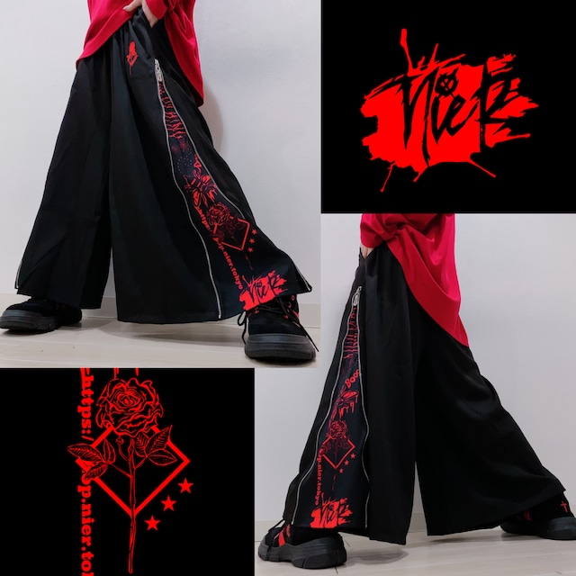 RED ROSE WIDE PANTS
