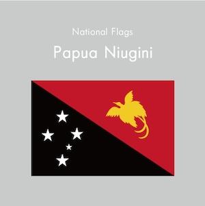 国旗ステッカー パプアニューギニア
